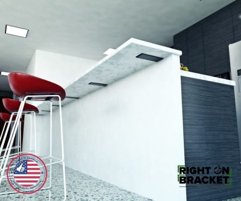 Back Mount Counter-Top Brackets
