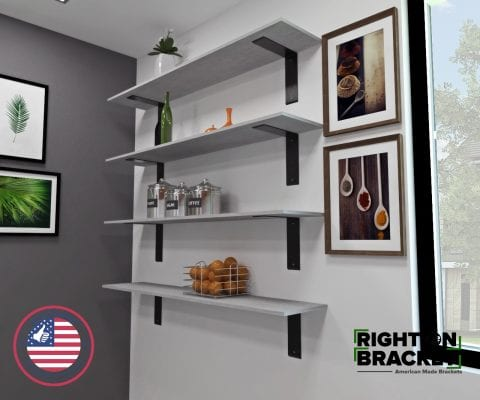 Right Angle Shelf Brackets
