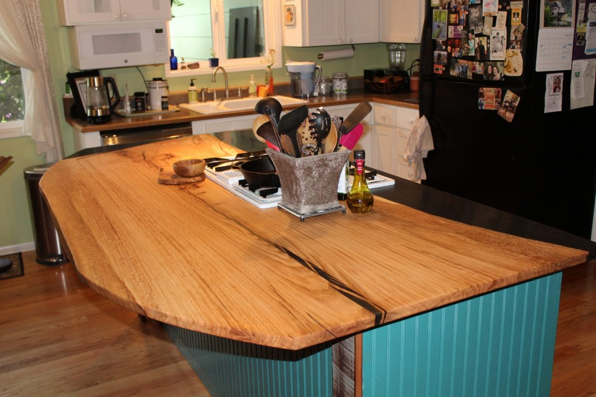 Wooden and epoxy countertop