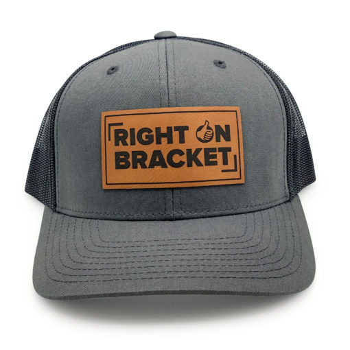 Charcoal Right On Bracket Snapback Hat