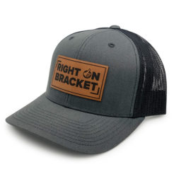 Charcoal Right On Bracket Hat
