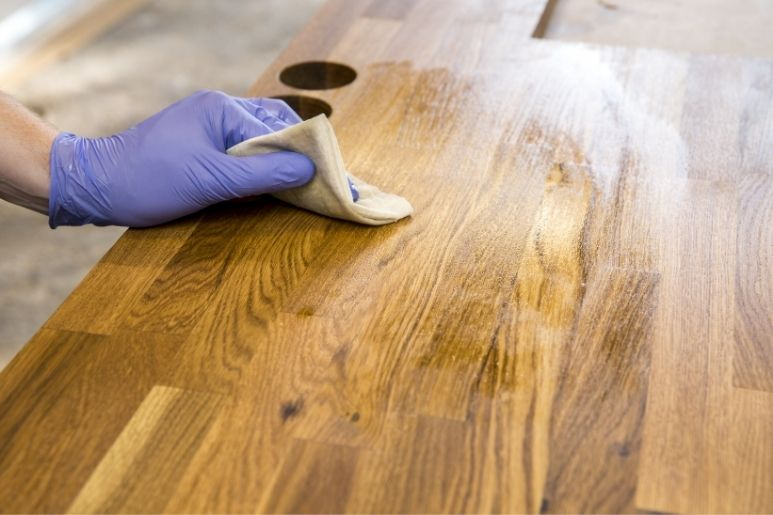 How To Mount a Butcher-Block Countertop With Overhang